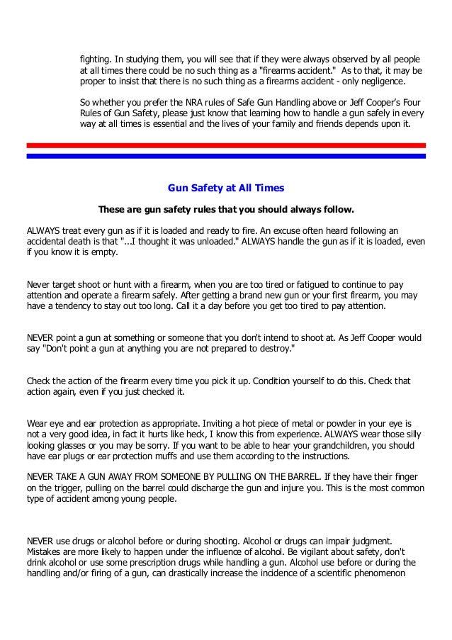picture regarding Printable Gun Safety Rules named A-In depth-Seem-at-Gun-Basic safety