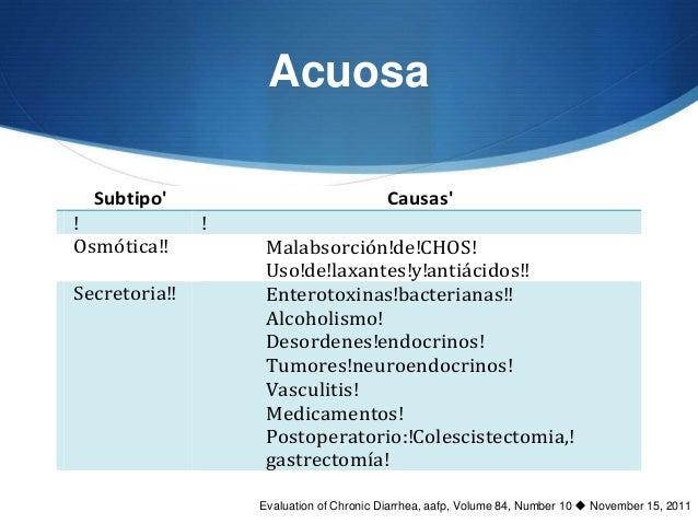 Acuosagnostico!diferencial!de!la!diarrea!crónica!rea       Subtipo                                      Causas       S! Nu...