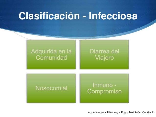 Clasificación - Infecciosa               Acute Infectious Diarrhea, N Engl J Med 2004;350:38-47.