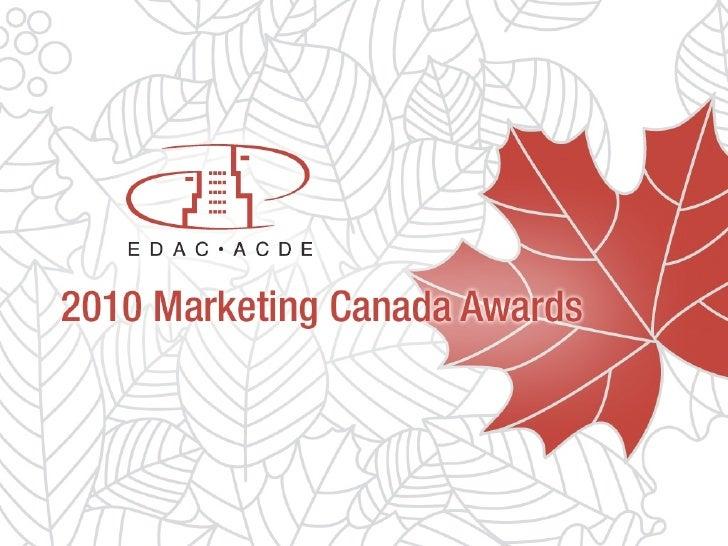 EDAC Marketing Canada Awards 2010