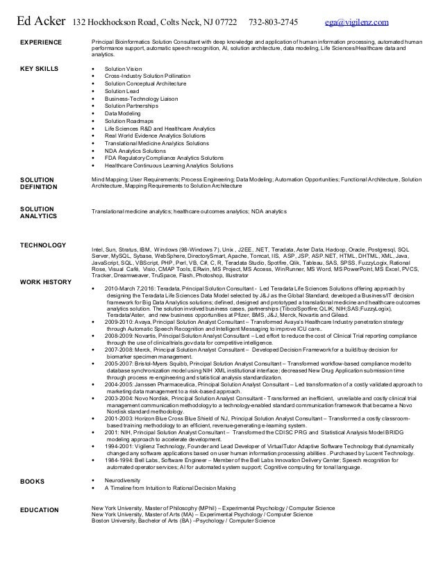 Ed acker cognitive computing resume