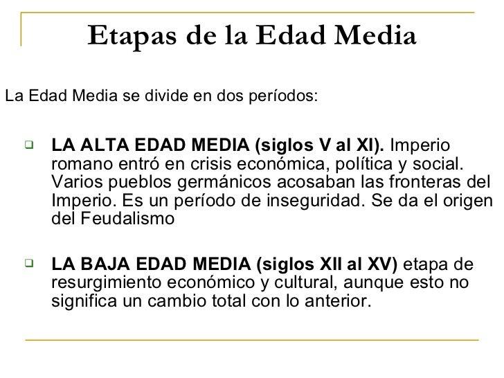 Edad Media Slide 3