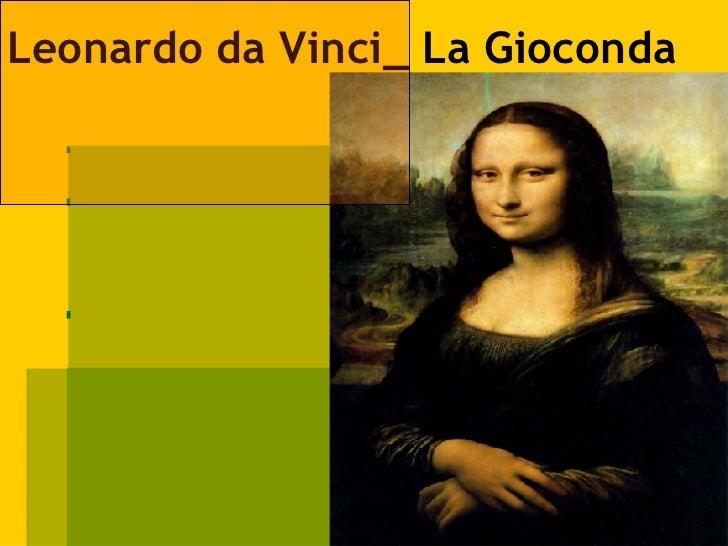 Leonardo da Vinci_ La Gioconda