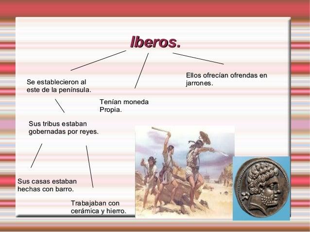 Iberos.Iberos.Se establecieron alSe establecieron aleste de la península.este de la península.Sus tribus estabanSus tribus...