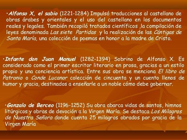 •Juan Ruiz, El Arcipreste de Hita Este sacerdote sólo escribió una obra El libro del Buen Amor ,alegato humorístico a favo...