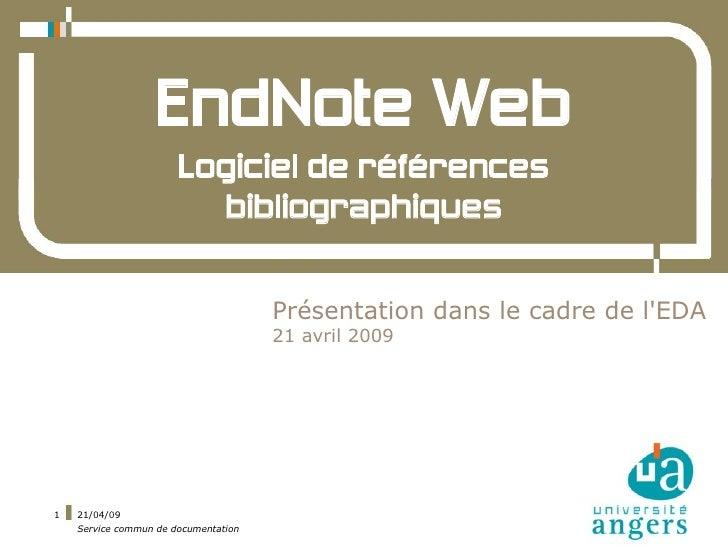 EndNote Web                        Logiciel de références                          bibliographiques                       ...