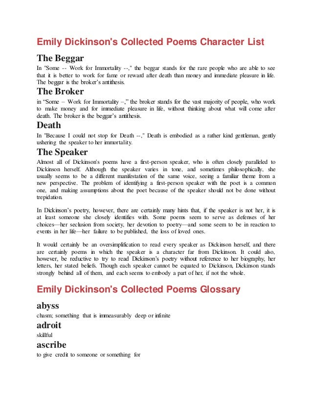 Emily Dickinson Poems Analysis 3