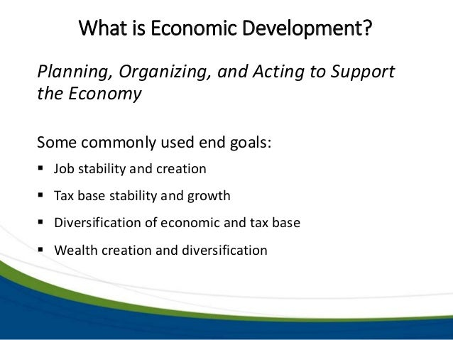 Recent Trends In Economic Development