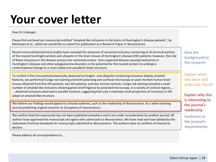 Examples Of Cover Letters For Scientific Manuscript Submitted To Nature