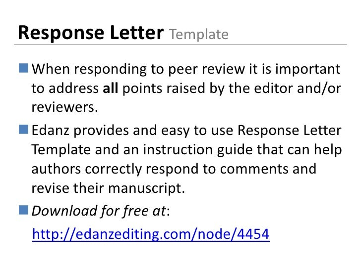 English language editing for african scientists response letter templatewhen responding to peer spiritdancerdesigns Images
