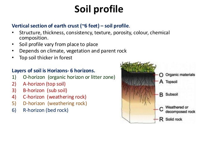 Edaphic factors soil profile structure porosity soil for Soil profile video