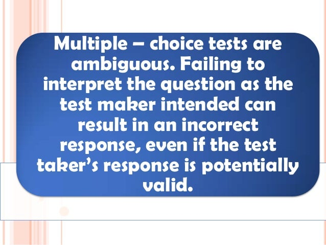 Assessment of Learning - Multiple Choice Test