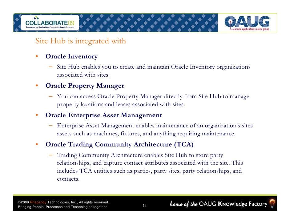 Mdm Oracle Site Hub 101