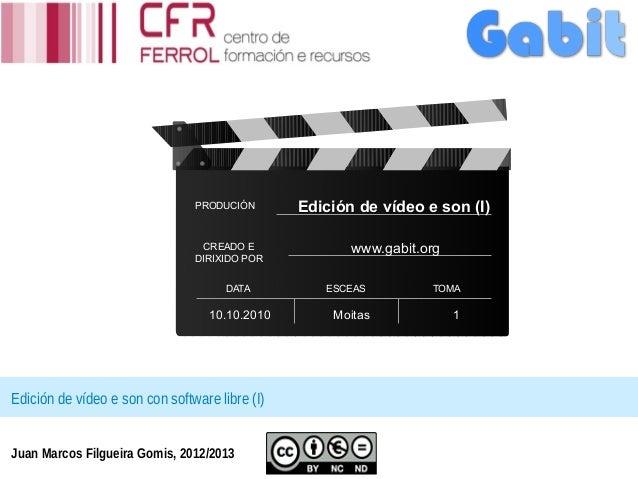 PRODUCIÓN       Edición de vídeo e son (I)                                 CREADO E              www.gabit.org            ...