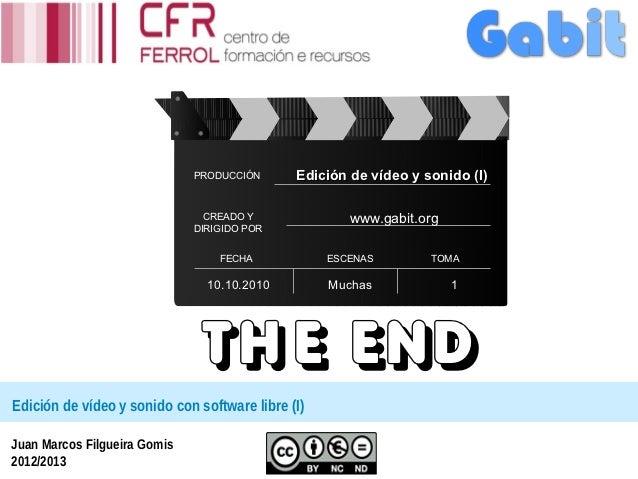 PRODUCCIÓN      Edición de vídeo y sonido (I)                                CREADO Y              www.gabit.org          ...