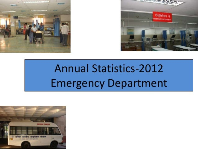 Annual Statistics-2012Emergency Department