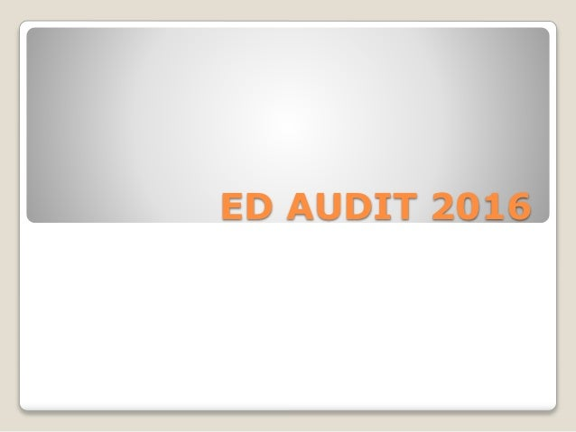 ED AUDIT 2016