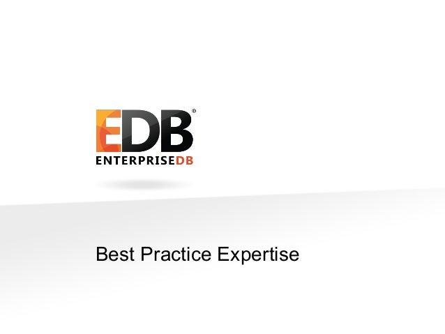 EnterpriseDB's Best Practices for Postgres DBAs