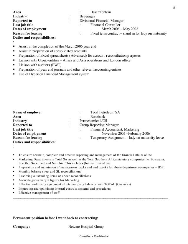 Stunning Temporary Accounting Resume London Photos - Best Resume ...