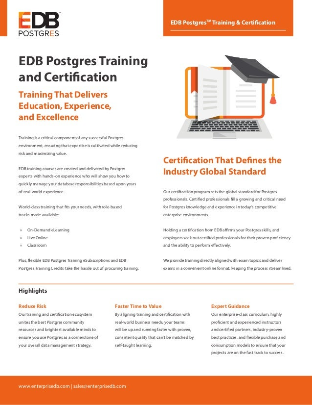 edb postgres training and certification