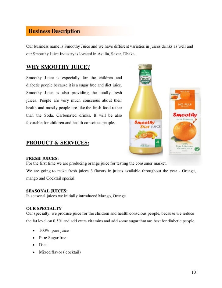 marketing plan of juice company
