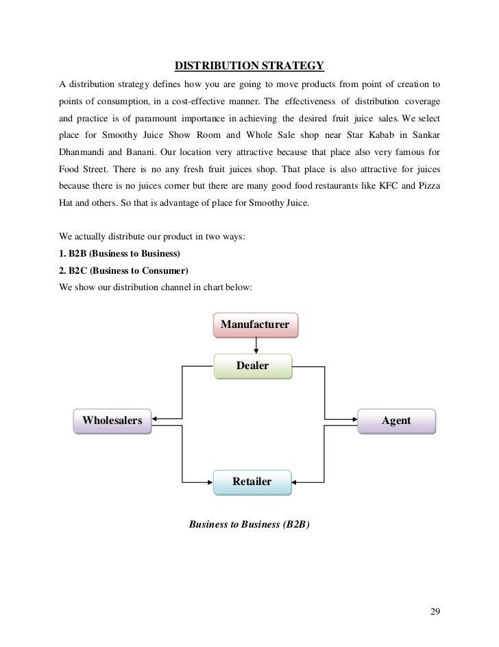 business proposal for distributorship