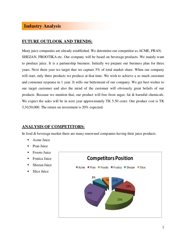 Future outlook and trends of business plan