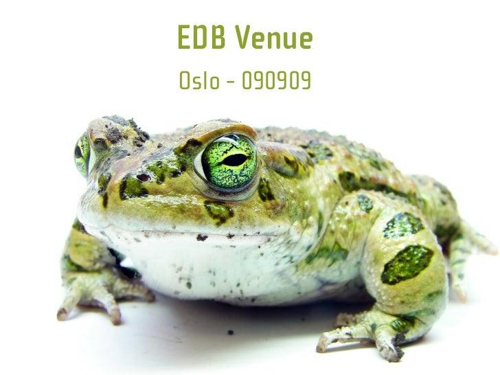 EDB Venue Oslo - 090909