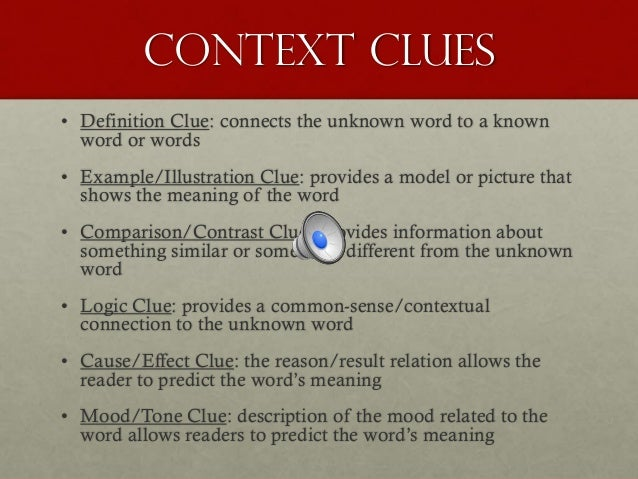 Example of syntactic clues.