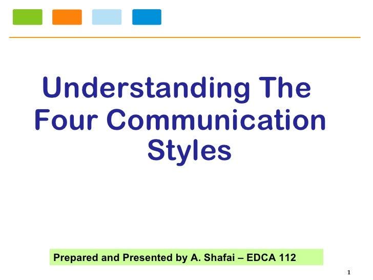 <ul><li>Understanding The  </li></ul><ul><li>Four Communication Styles </li></ul>