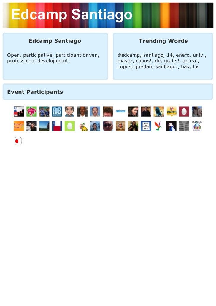 Edcamp Santiago         Edcamp Santiago                           Trending WordsOpen, participative, participant driven,  ...