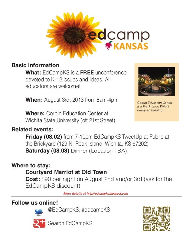@EdCampKS; #edcampKSSearch EdCampKSWhat: EdCampKS is a FREE unconferencedevoted to K-12 issues and ideas. Alleducators a...