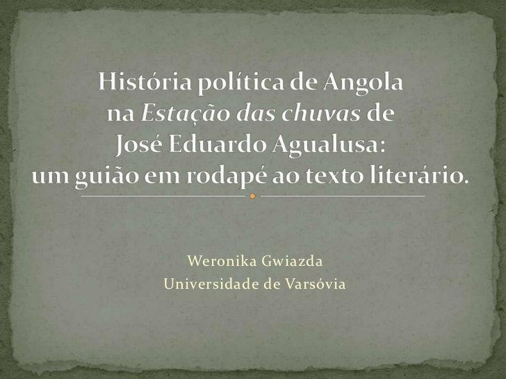 Weronika GwiazdaUniversidade de Varsóvia