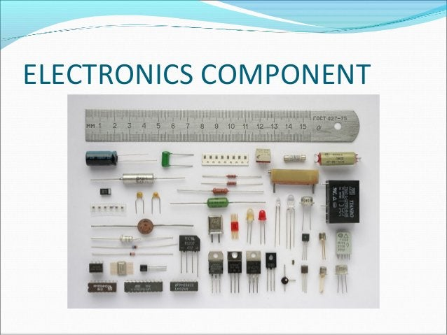 PASSIVE COMPONENTS The electronics components which are not capable of amplifying or processing an electrical signal are ...