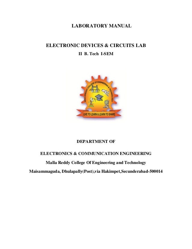 electronic devices and circuits manualElectronic Circuit Lab Manual #5