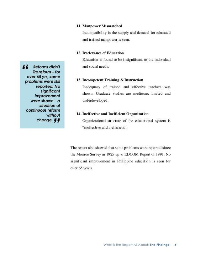 ano ang monroe educational survey commission