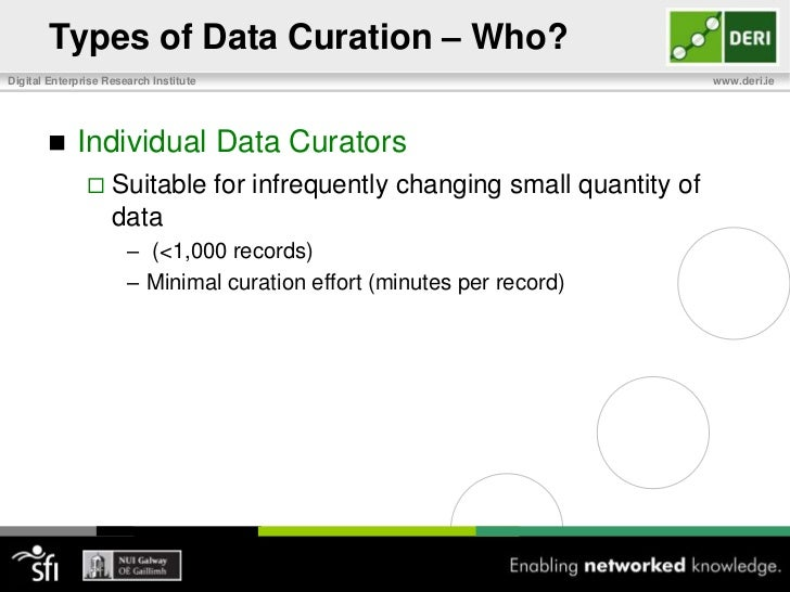 Should You Curate Data?<br />Curation can have multiple motivations<br />Improving accessibility, quality, consistency,…<b...