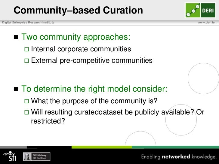 Setting up a Curation Process<br />Step 5: Identify the artifacts, tools, and processes needed to support curation<br />Wo...