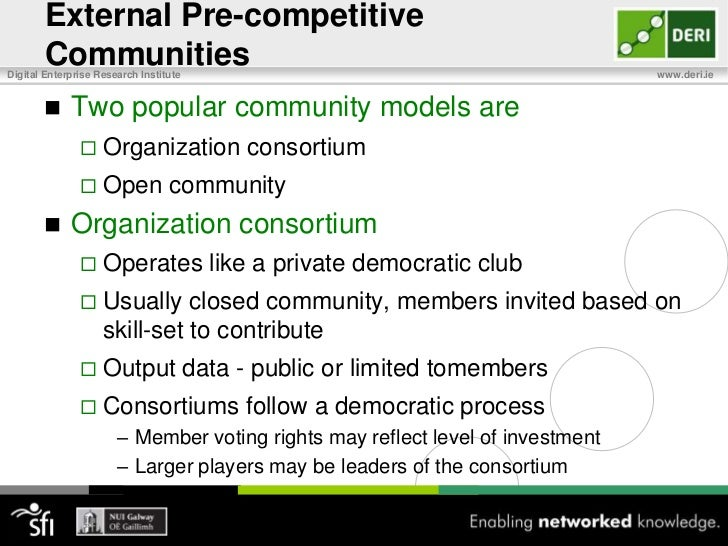 What is Pre-Competitive Data?<br />Two Types of Enterprise Data<br />Propriety data for competitive advantage<br />Common ...