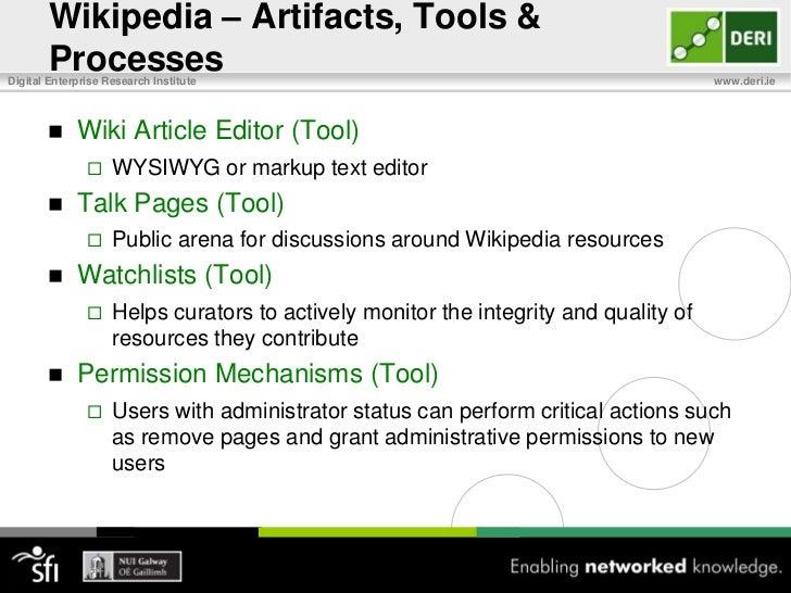 Wikipedia – Social Organization<br />