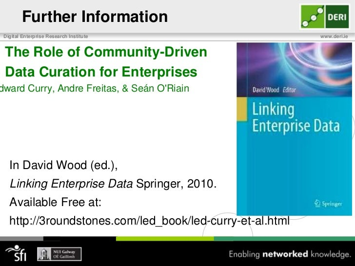 Further Information<br />The Role of Community-Driven<br />Data Curation for Enterprises<br />Edward Curry, Andre Freita...