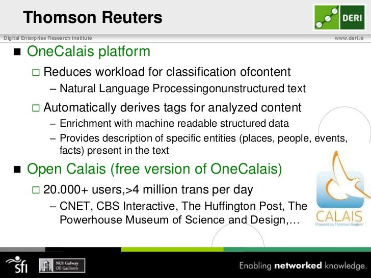 Thomson Reuters<br />Data Curation: A Core Business Competency<br />