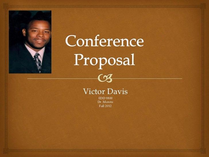Victor Davis   EDD 9800   Dr. Morote    Fall 2012