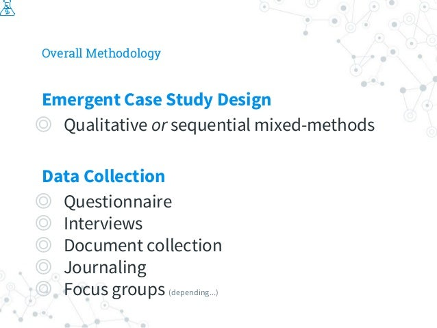 Overall Methodology Emergent Case Study Design ◎ Qualitative or sequential mixed-methods Data Collection ◎ Questionnaire ◎...