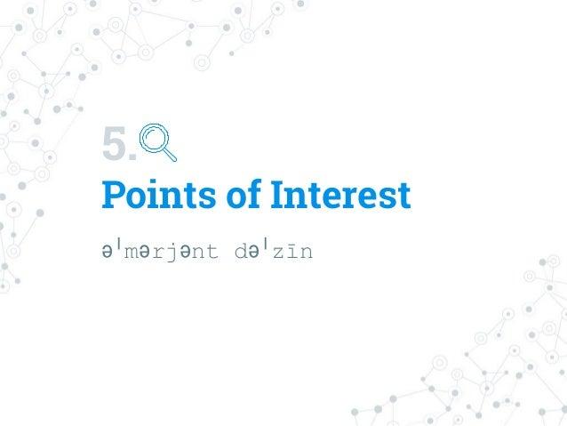 5. Points of Interest əˈmərjənt dəˈzīn