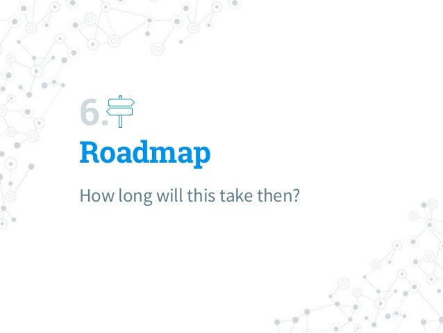 6. Roadmap How long will this take then?
