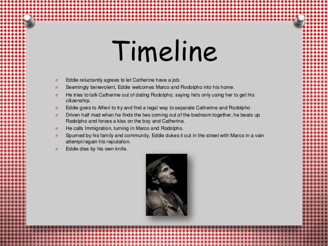 characterisation of eddie carbone A view from the bridge characterisation: eddie carbone explore the ways a  central character is presented in the drama text use examples from the text in  your.