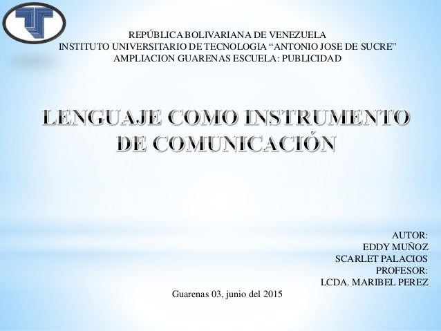 """REPÚBLICA BOLIVARIANA DE VENEZUELA INSTITUTO UNIVERSITARIO DE TECNOLOGIA """"ANTONIO JOSE DE SUCRE"""" AMPLIACION GUARENAS ESCUE..."""