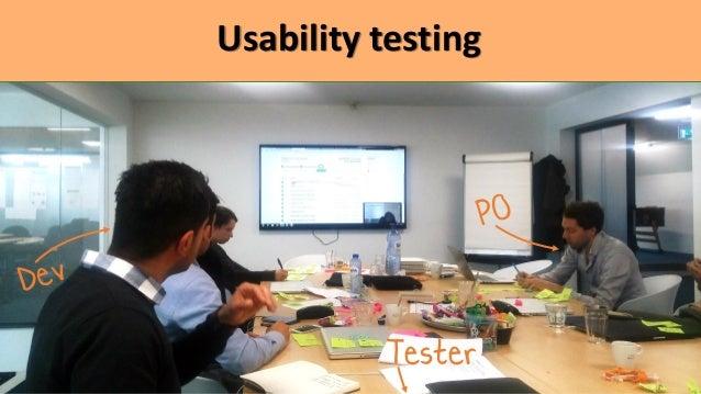User analytics based testing