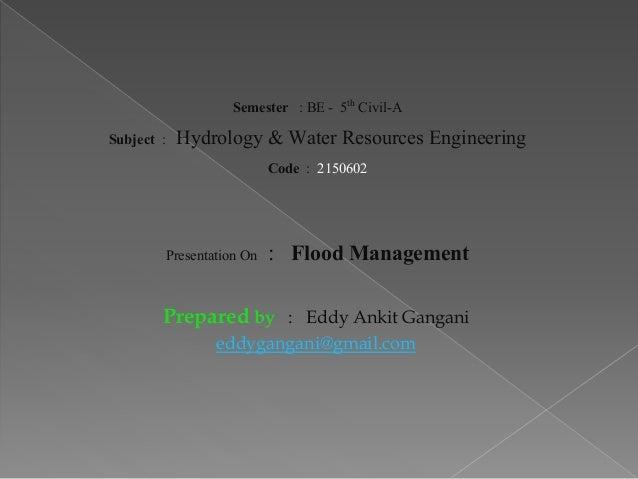 types of  flood & flood mitigation/management techniques - damages Slide 2